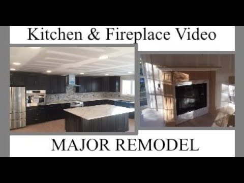 DIY HOME ADDITIONS - How to create a beautiful kitchen and gas fireplace Ideas