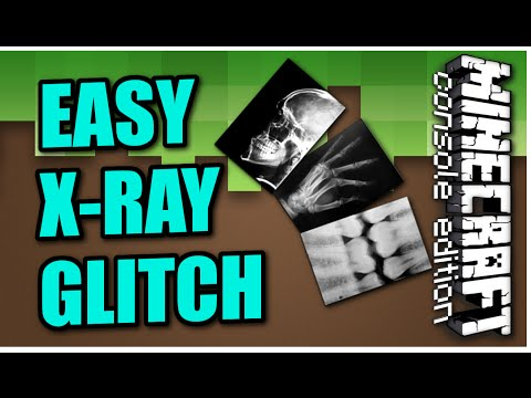 MINECRAFT ( PS3 / PS4 ) EASY X-RAY GLITCH - TUTORIAL & REVIEW -  UPDATE