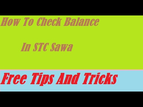 How To Check Balance In STC Sawa