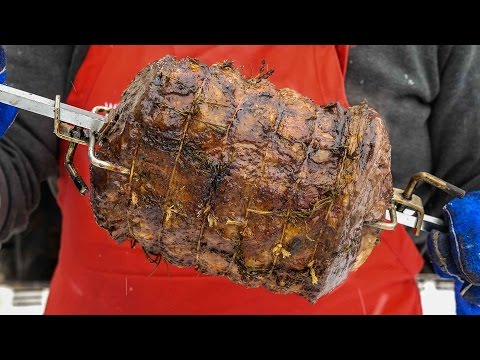 How To Rotisserie a Ribeye Roast