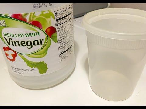 Vinegar Shower Head Cleaner