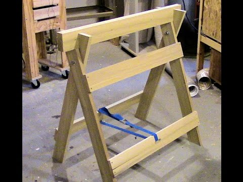 Build a double duty sawhorse / workbench