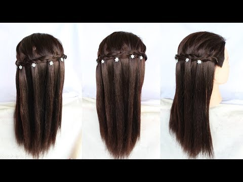 very easy way to make a waterfall hairstyle in 2 minute || short hairstyles || hairstyle