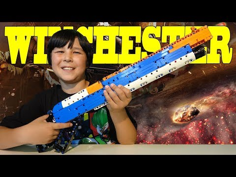 Unboxing LEGO like Toy WINCHESTER model 1887 Working Lever Action Rifle Gun compatible with NERF