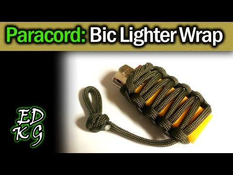 Simple Paracord: Bic Lighter Wrap (always find your light!)