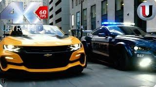 Transformers 5 The Last Knight Bumblebee vs Barricade Bluray (FULL HD)