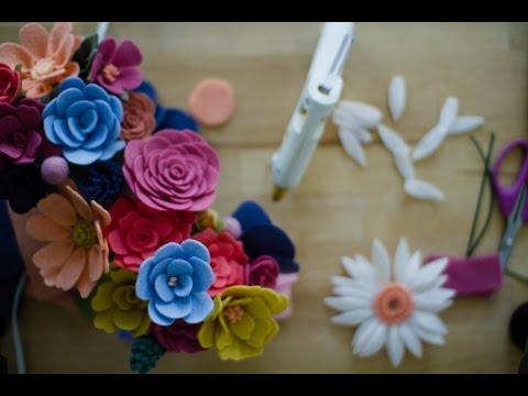 Felt Flower Tutorial (easy!) - A How-To DIY Tutorial on Felt Flower Making