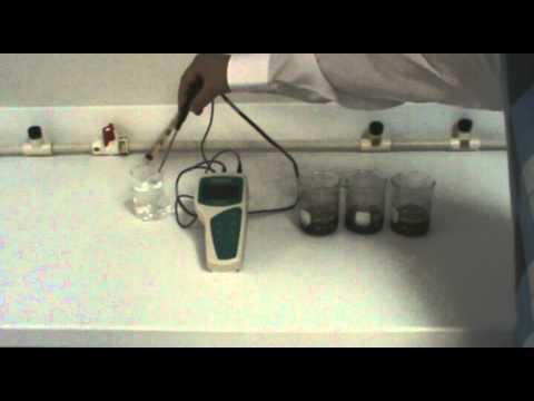 Measuring pH of soil