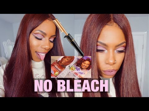 NO BLEACH HAIR COLOR TUTORIAL FOR BEGINNERS! FROM BLACK TO REDDISH BROWN BEAUTYFOREVER STRAIGHT HAIR