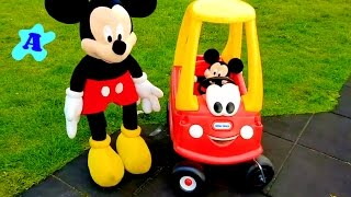 COZY COUPE CAB BABY & MOTHER Playing in the Park with DADDY & BABY MICKEY MOUSE