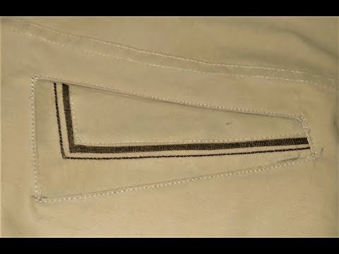 Sew a welt pocket in any shape