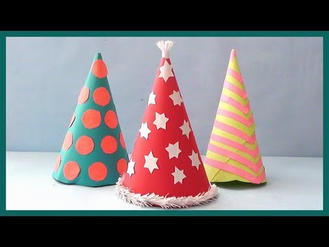 DIY PARTY HAT | how to make Santa Hat for Christmas party