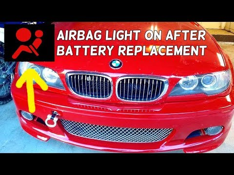 AIRBAG LIGHT ON AFTER DEAD BATTERY OR BATTERY REPLACEMENT