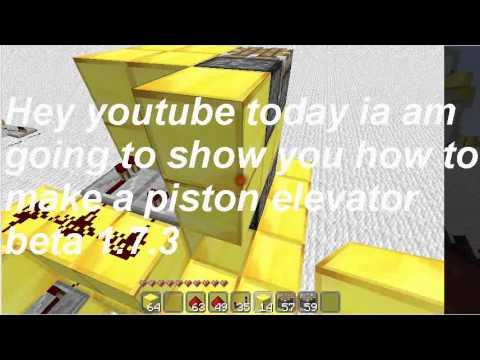 MInecraft How to make a Piston elevator beta 1.7.3