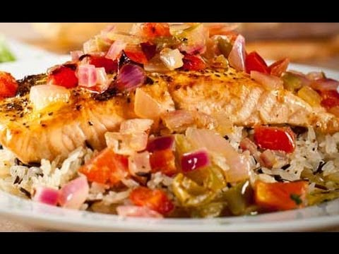 Healthy Dinner Recipe (Veggies and Salmon)