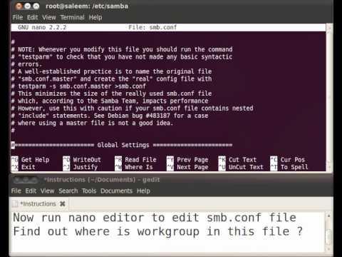 How to Change Ubuntu WorkGroup