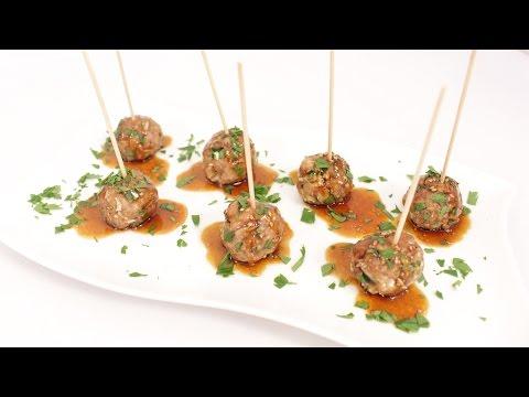 Bourbon Teriyaki Meatballs