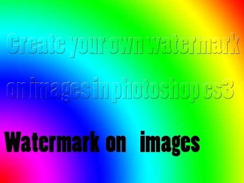 How to add watermark on images by photoshop cs3 | Anirudh rao
