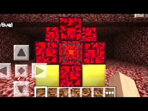 MinecrafTutorials: 0.9.4 How to Make a Nether Portal MCPE