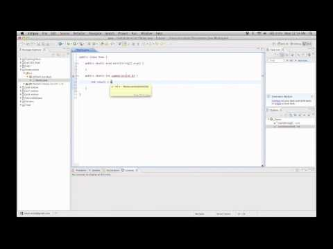 Creating a Simple Program in Java Using Eclipse - Indigo