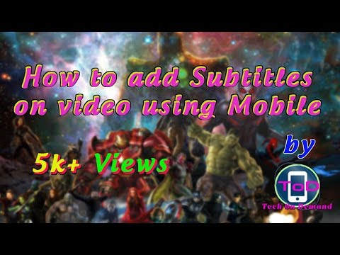 How to permanently add any language subtitle to video in your android mobile