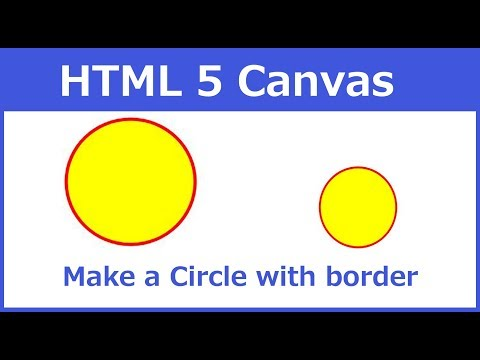 How to make a circle with border using html 5 canvas