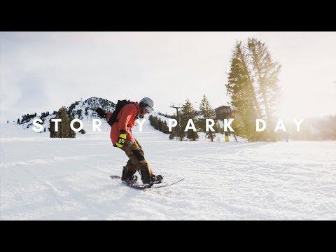 Stormy Park Day in Mammoth | GoPro Snowboarding Vlog