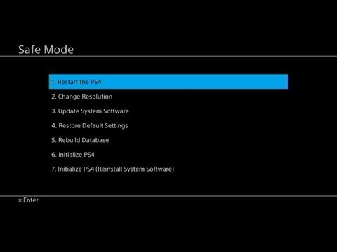 How To: Start #PS4 (and Pro) Safe Mode / Rebuild Database & More