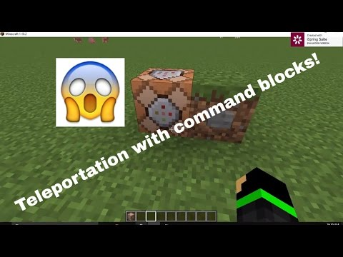 How to teleport using command blocks | Minecraft 1.10.2