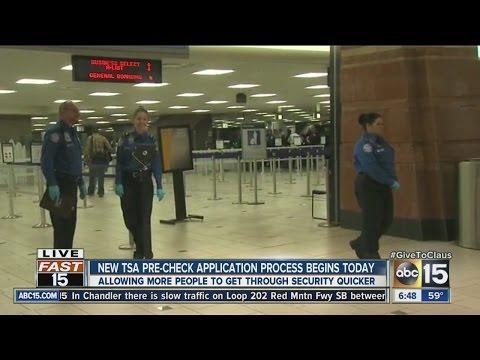 New TSA pre-check application process begins