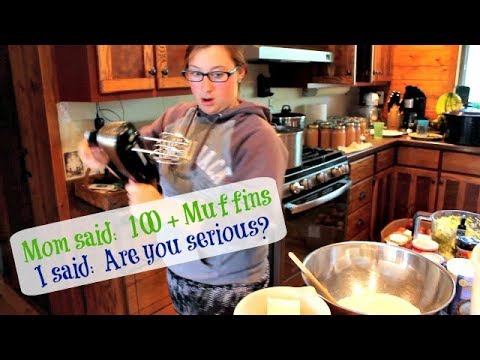 100+ Muffins with Recipes | Large Family Style Baking (with my oldest daughter)