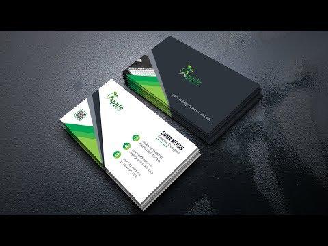 Modern Business Card Design Tutorial in Photoshop CC
