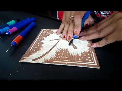 DIY : How To Make a Hardboard Cut On Totebag
