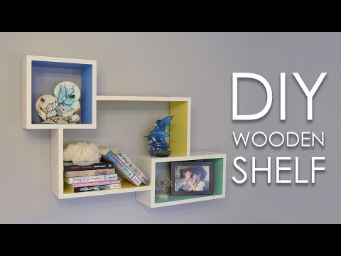 DIY Colorful Rectangular Wooden Wall Shelf