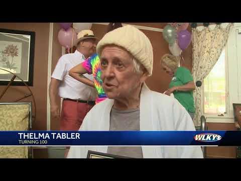 100-year-old celebrates her birthday