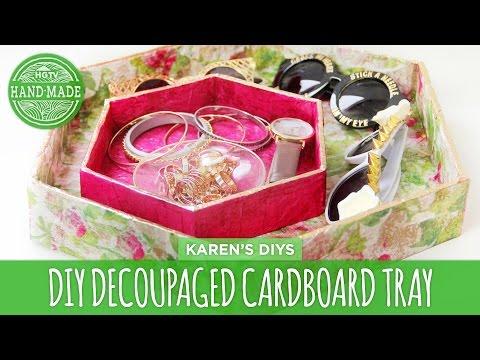 DIY Decoupaged Cardboard Trays - HGTV Handmade
