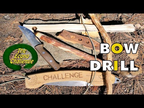 Bow Drill Kit From Scratch - Primitive Fire - Bushcraft Practice