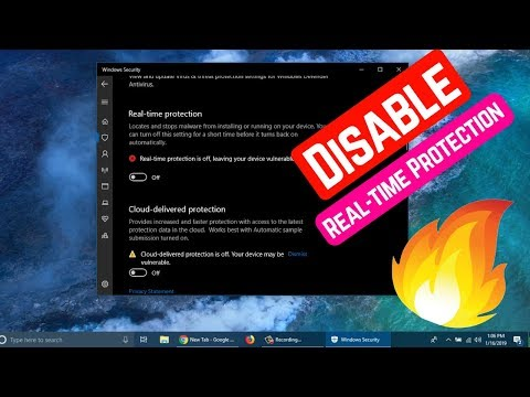 How To Disable Real-time Protection In Windows Security