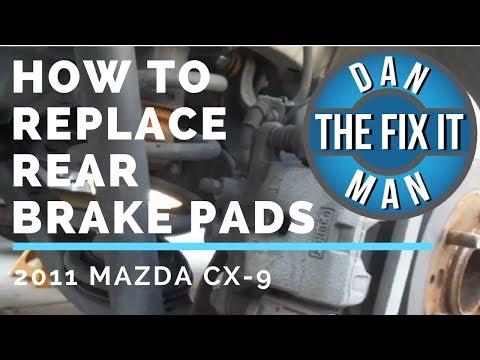 2011 MAZDA CX-9 REAR BRAKE PAD REPLACEMENT - EASY DIY