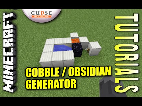 Minecraft PS4 - COBBLE / OBSIDIAN GENERATOR - How To - Tutorial ( PS3 / XBOX ) WII