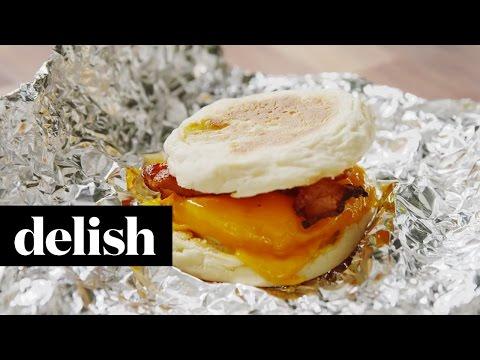 How To Make Make-Ahead Bacon & Egg Sandwiches | Delish