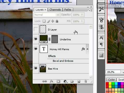 Flatten Layers in Photoshop CS3