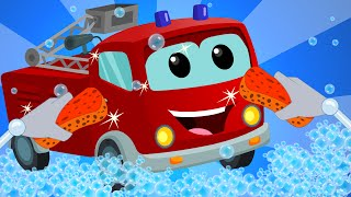 Fire Truck   Car Wash   baby video   learn vehicles   truck song