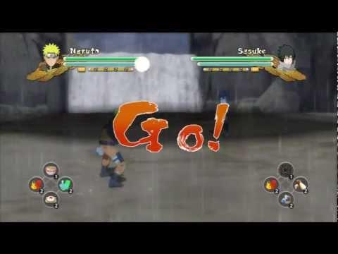 Naruto Shippuden Ultimate Ninja Storm 3 - EMS Sasuke Vs Naruto Kurama
