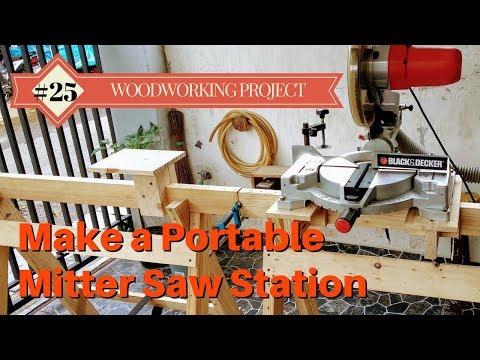 Make a Portable Mitter Saw Station