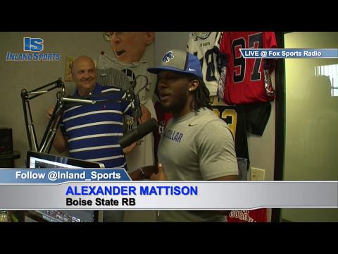Boise St. RB Alexander Mattison on The Inland_Sports Show Fox Sports 1350AM (5-13-17)