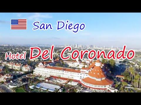 DJI Drone Flight over Hotel Del Coronado, San Diego, California,  Watch the long shadows