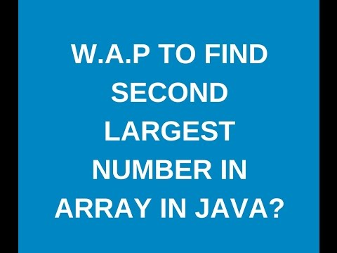 write a java program to find second largest element in the array in the java