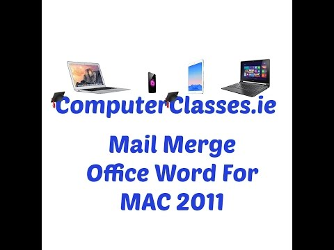 Mail Merge Word 2011 for MAC OS X