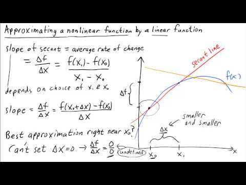 Approximating a nonlinear function by a linear function